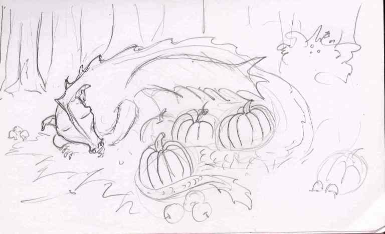 Sleeping Dragon - with pumpkins of course.